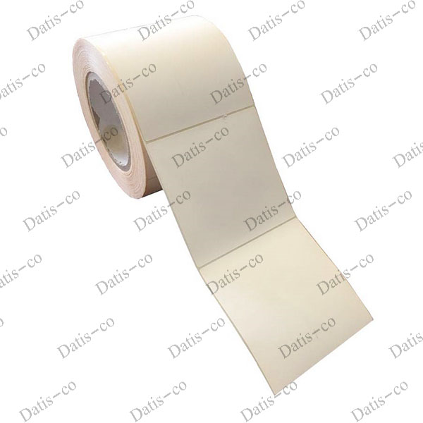 برچسب کاغذی سفید 100*100 رول لیبل سفید بزرگ
