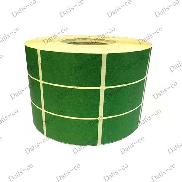 برچسب کاغذی سبز سه ردیفه 70*34