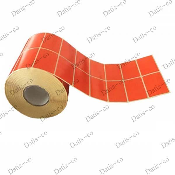 لیبل کاغذی نارنجی 50*35