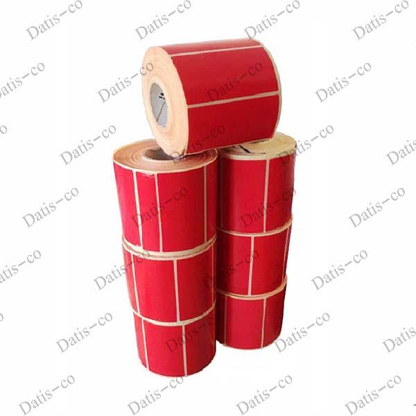 برچسب قرمز کاغذی 90*47