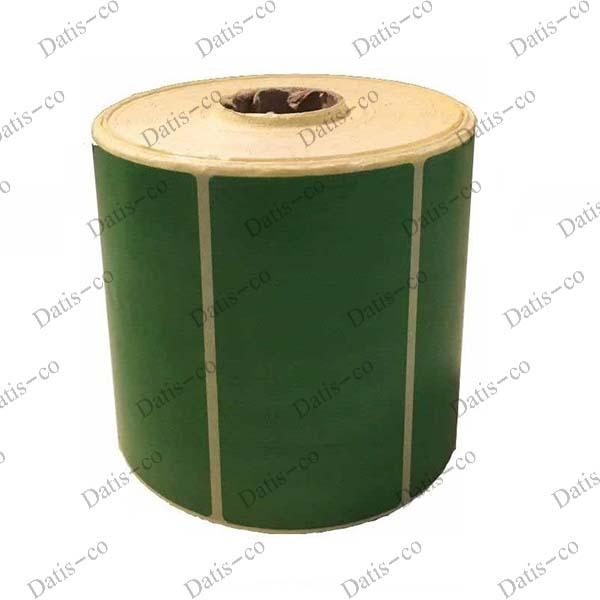 لیبل کاغذی سبز 90*47