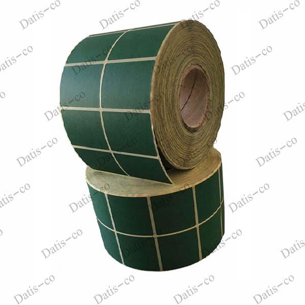 برچسب کاغذی سبز 60*50