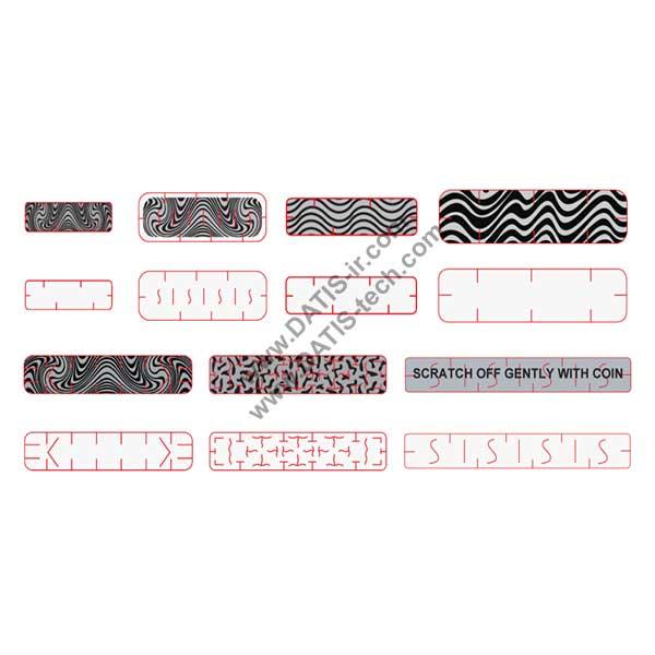لیبل اسکرچ Scratch پوشش رمز کارت شارژ